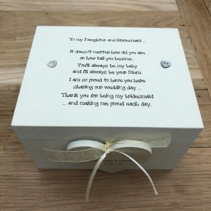 Shabby Personalised Chic Daughter Who Is A Bridesmaid Wedding Trinket Gift Box